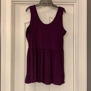 Matilda Jane Purple Ruffle Tank